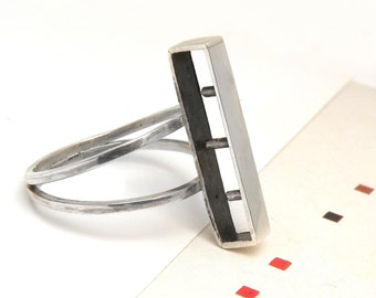 Before 43usd--SALE-Constructive Ring-sterling silver