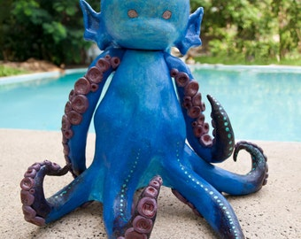 Cerulean - Octopus Nymph Sculpture, Mixed Media, ORIGINAL, OOAK