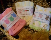 Personalized Girl Onesie/Burp Cloth Wrappers PDF Set
