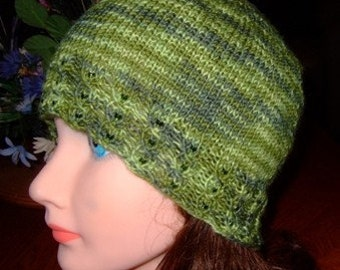 Hat, knitted Cloche, Handmade