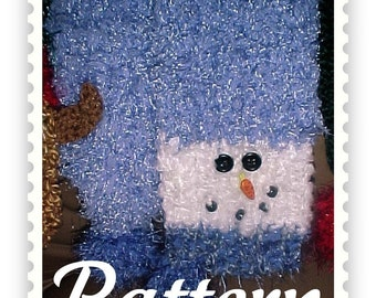 PDF - Snowman Scarf Knitting Loom Pattern