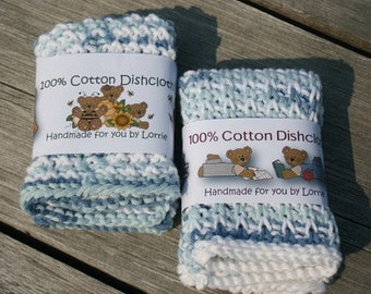 Beary Sweet - PDF Printable Dishcloth Washcloth Knitted Crochet Labels