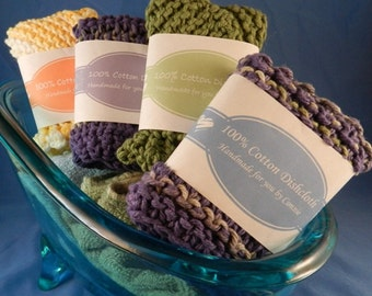 Simply Oval - PDF Dishcloth Labels