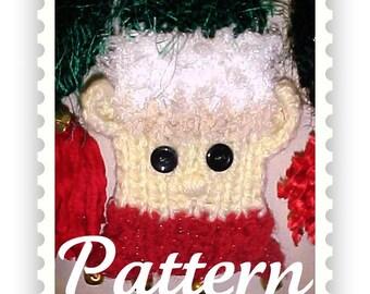 PDF - Christmas Elf Scarf Knitting Board Pattern