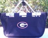 Large University of Georgia Bulldogs Market Tote  ---   GO DAWGS