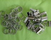 25 sets One Inch  key fob/key chain nickel hardware   UNBELIEVABLE PRICES