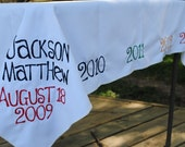 Personalized Heirloom Tablecloth - FREE SHIPPING