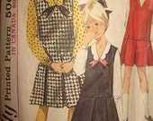 Vintage Girls 1 Piece Jumper and Blouse Pattern Size 14