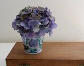 Everlasting Little Purple Flower Pot with Hydrangea Sprig