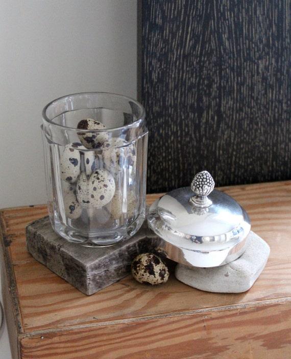 TO GATHER Vintage Glass Lidded Jar