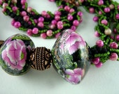 RESERVED FOR RUTH Necklace Memory of Peonies
