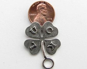 Four Leaf Clover lottery ticket scratcher key tag