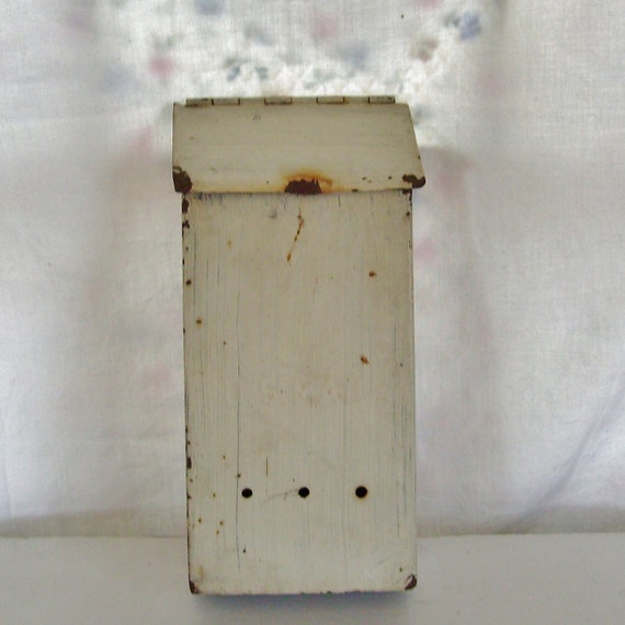 Vintage mailbox metal painted white