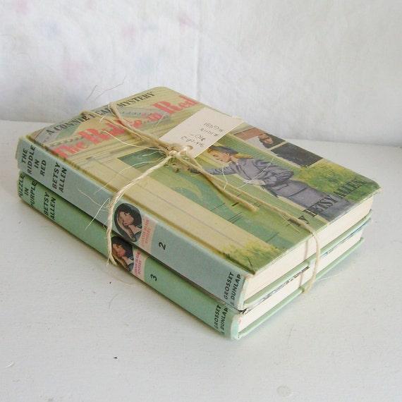 Vintage Connie Blair book bundle 2 pale blue green matte covers