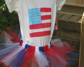 Patriotic creeper and tutu combination