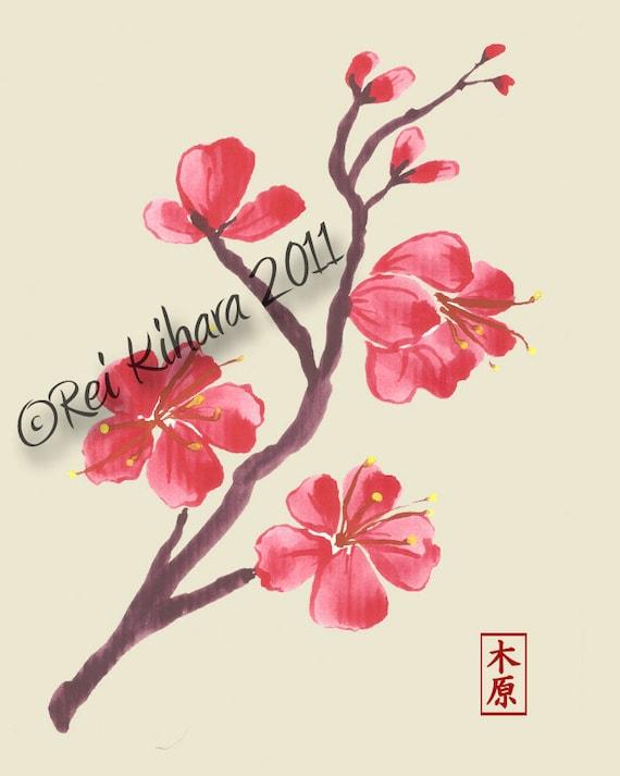 articles similaires fleurs de cerisier japonais branche 8 x 10 imprimer sur etsy. Black Bedroom Furniture Sets. Home Design Ideas