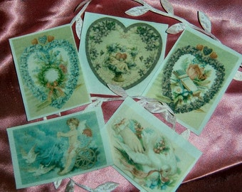 Valentine Vintage Fusible Images 5 pack
