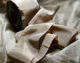 "2  3/4"" wide French Dove Gray Ribbon  1 yard"