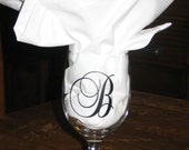 2 inch Vinyl Initial Decal Wine Glass Cups