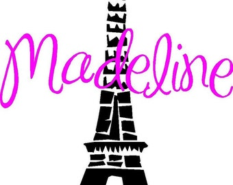 Personalized Paris French Girls Wall Words Vinyl Letters Decal