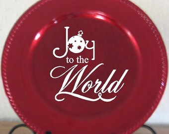 Joy to the World Christmas Vinyl Lettering Decal