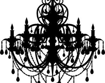 Large Chandelier French Paris Wall Art Vinyl Decals Stickers