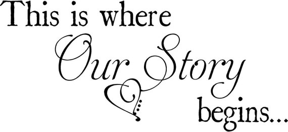 Custom Our Story Begins Wedding Wall Decal Vinyl Lettering Sticker Words Decor