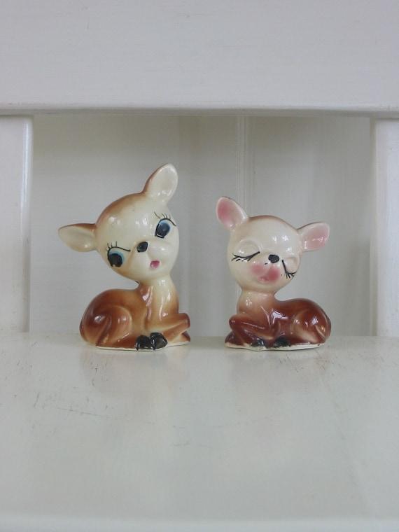 Cute Vintage Deer Salt And Pepper Shaker
