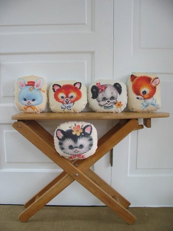 Retro Animal Pillows