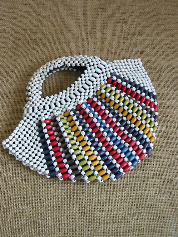Beaded Purse Clutch Vintage Colorful