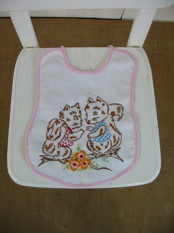 Embroidered Bib Hand Sewn Children Baby Clothes Accessories