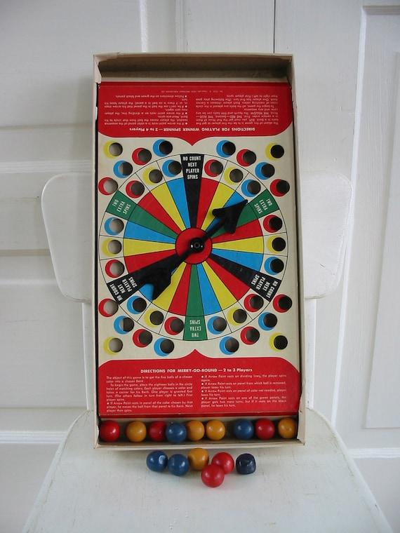 Vintage Game Children Ephemera Winner Spinner Balls Fifties