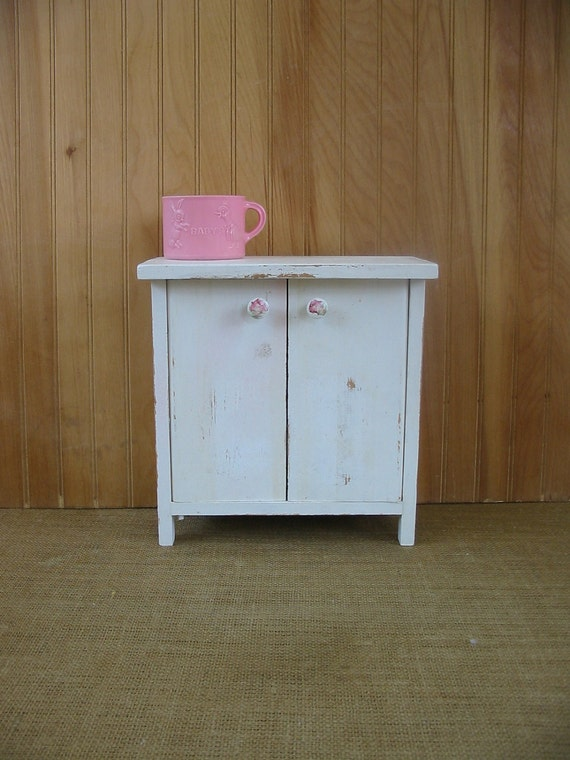 Vintage Doll Dresser Toy Furniture Wardrobe Closet  American Girl Child Armoire