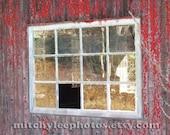 Red Window-5x7 Original Fine Art Photograph