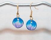 Handmade Blue and Purple Bead Earrings