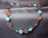 Pastel Perfection Vintage German Glass Bracelet