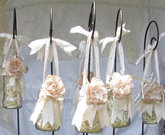 Mason Jar Lanterns, Wedding Lanterns, Wedding decor, Reception decor,6 Lanterns