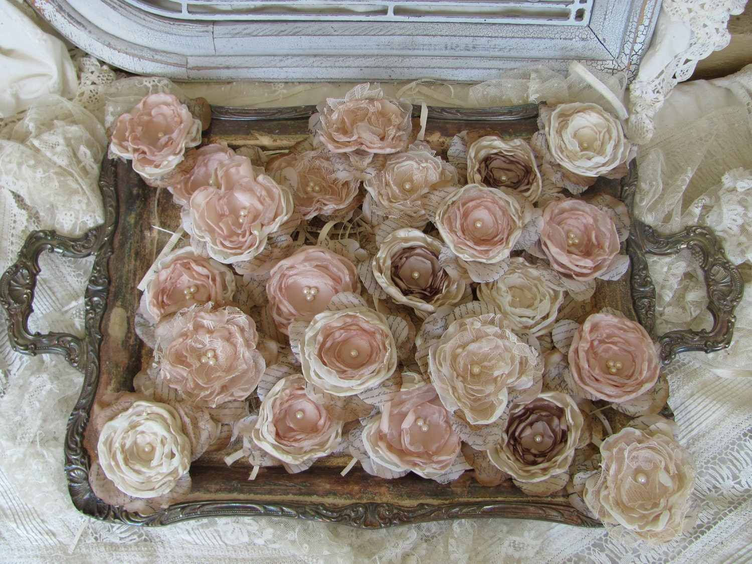 DIY Fabric FlowersWedding Flowers For Decorations Or DIY