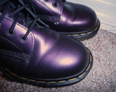 Hold for mimsandliz Dr. Martens SALE metallic purple doc marten boots, size US women's 9, UK 7