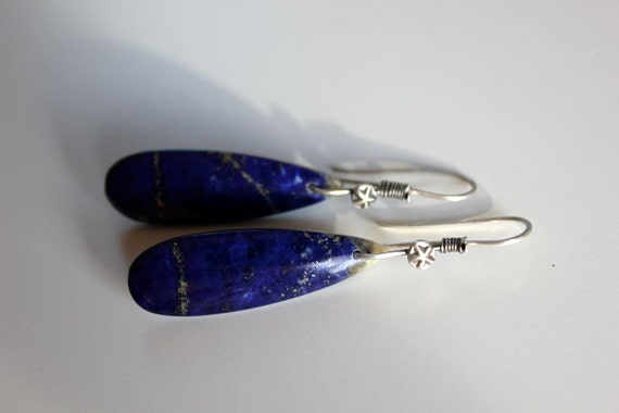 Fruitful Skies........ silver and lapis earrings