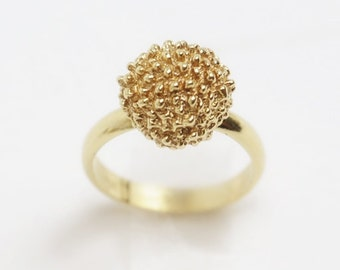 FLOWER GOLD Ring | Ready to Ship | Handmade with recycled 14k Gold, Anniversary ring, Mothers Day Gift Ideas