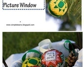 Picture Window Quilted Fabric Ornament Pattern and Tutorial