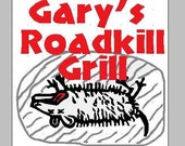 Gary's Roadkill Grill Machine Embroidery Design 4 x 4
