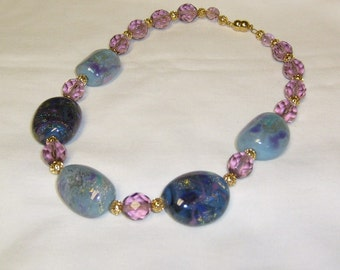 Dichroic Lampwork Bead Necklace