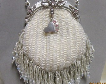 "Bridal Purse and Jewelry Set ""Two Hearts Joined"""