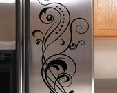 Vinyl Lettering Decal Refrigerator Flourish