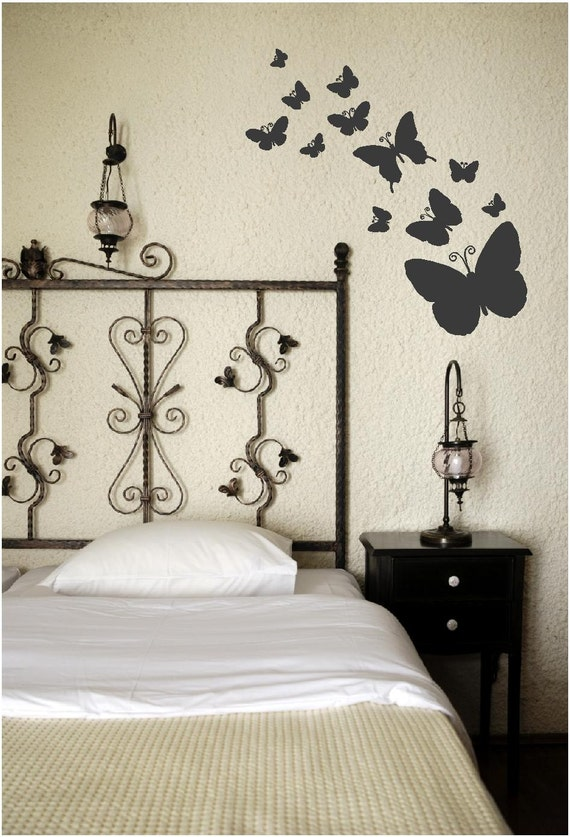 Etsy Butterfly Wall Decor : Items similar to butterflies in bedroom wall art nature