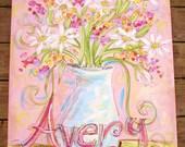 Photo Prop Nursery Art Custom Large Scale Painting You Choose Theme 24x 30 Inch