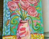 Pretty Posies Original Canvas Painting Made To Order