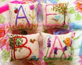 Deluxe Details Original Freehand Embroidered Mini Pillow Any Theme